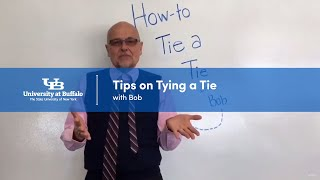 """Screenshot of the video """"Tips on Tying a Tie with Bob."""""""