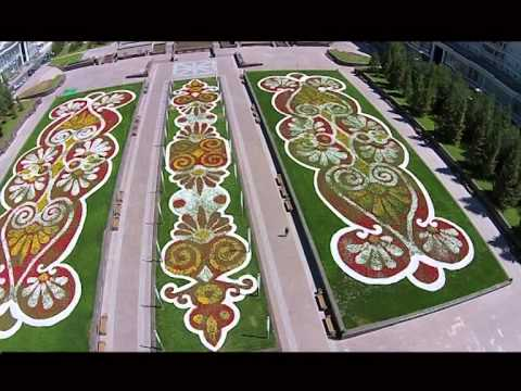 Цветники и фонтаны Астаны
