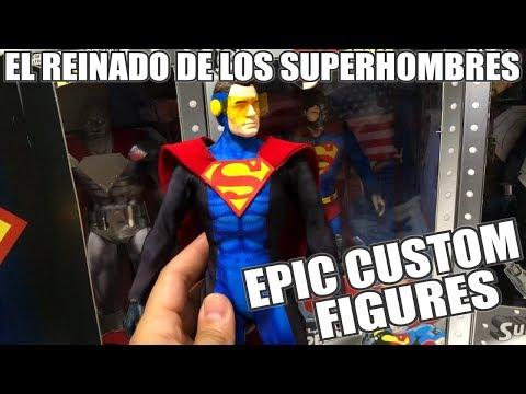Videos de uñas - ¡Brutales FIGURAS CUSTOM de El REINADO de los SUPERHOMBRES!