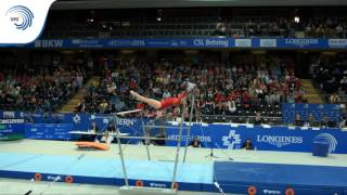 UEG Official – 31st European Championships in Women's Artistic Gymnastics, Bern (SUI), June 1st-5th, 2016. Gabrielle JUPP (GBR). Qualifications Uneven Bars :...