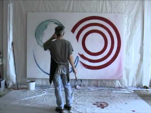 Autoportrait, à l'atelier, à la lune