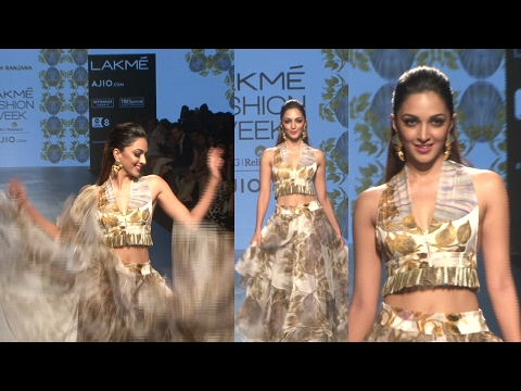 Kiara Advani Walks As Showstopper For Designer Farah Sanjana At Lakme Fasion Week Summer 2017