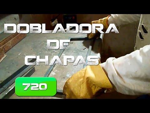 Dobladora de chapas, Casera. (Home made plate bender )