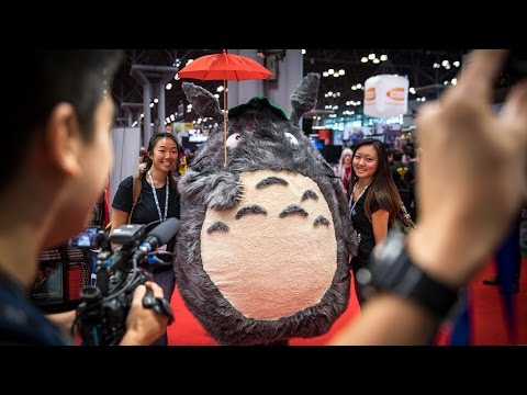 Adam Savage Incognito as Totoro at New York Comic