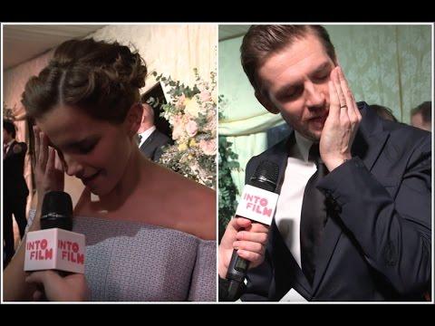 Beauty and the Beast Cursed Cast - Emma Watson, Dan Stevens. London Premiere 2017 (видео)