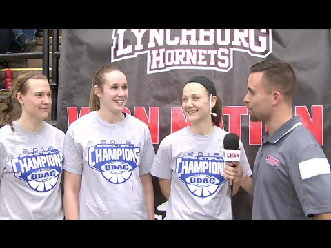 Fearsome Threesome: Sammi Goldsmith, Chaney Forbush & Sarah Coon after the ODAC Title