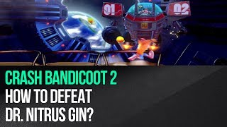 "This video shows how to defeat Dr. Nitrus Gin in ""Crash Bandicoot 2: Cortex Strikes Back"" for the PS4. Gin is using a large mech in this battle and your objective is to destroy it. The fight has three main phases. In the first phase avoid the boss's red laser attacks by sliding and keep throwing apples at his cannons. In the second phase move to the sides to avoid his rocket attacks and keep attacking him until you destroy one of the launchers. Now start avoiding single horizontal rockets by jumping over them and take care of the second launcher. In the final third phase focus on destroying the green laser and make sure to leave the endangered platforms before they're destroyed by the boss.► MORE GAME GUIDEShttp://guides.gamepressure.com/► FOLLOW UShttps://twitter.com/gamepressurecomhttps://www.facebook.com/gamepressurecom"