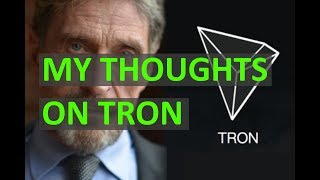 What is TRON (TRX) - John McAfee's Coin of the Week - My Review