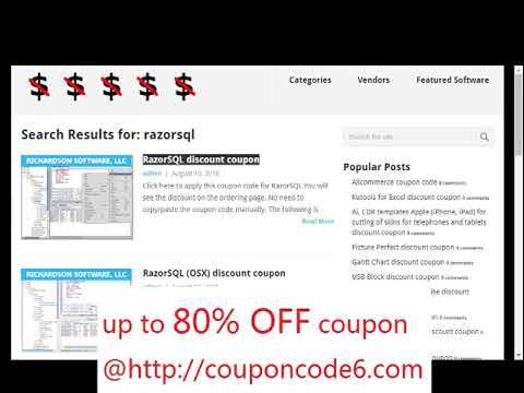 razorsql coupon
