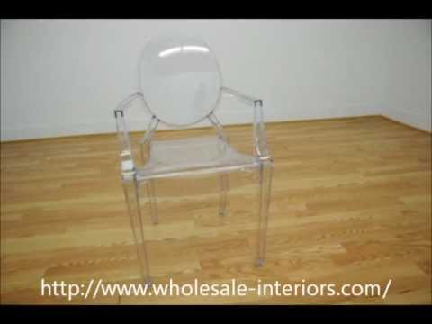 wholesale Interiors Dymas Modern Acrylic Armed Ghost Chair
