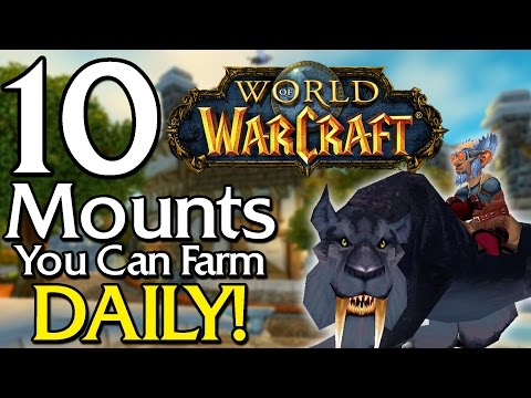 10 Rare Mounts you can farm Daily [World of Warcraft] (видео)