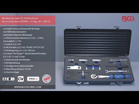 Werkzeug-Satz für Reifendruck Kontrollsystem (RDKS), 13-tlg. (Art. 8919)