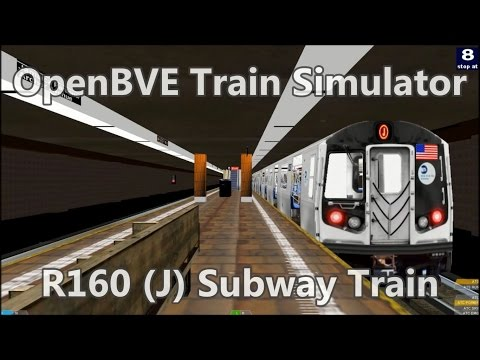 OpenBVE Train Simulator Gameplay - NYCT R160 (J) Local Subway Train