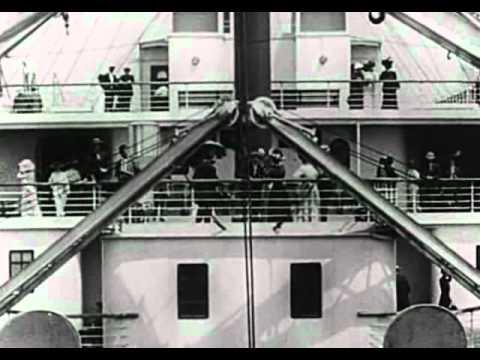 Titanic departure (real video 1912)