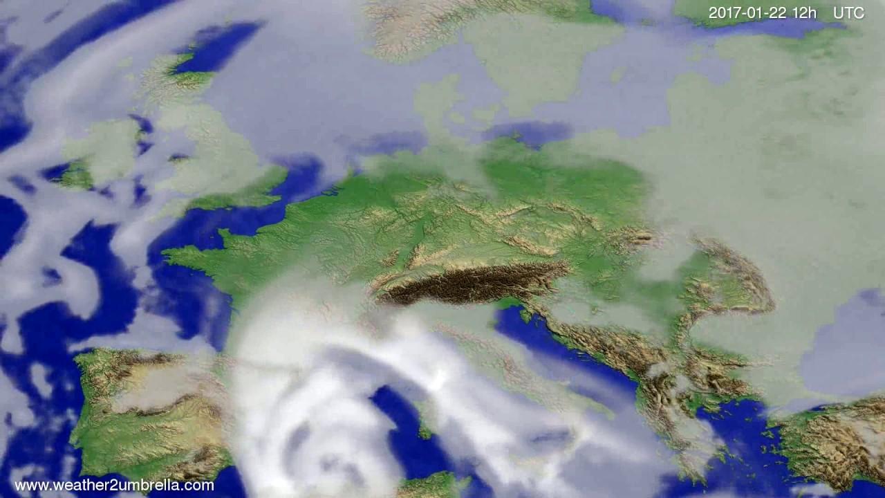 Cloud forecast Europe 2017-01-20