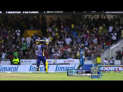 Chamara Silva spectacular shot for six