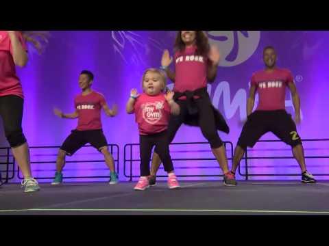 You can't stop watching this cute girl Zumba dance