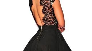 Vestido corte princesa con encaje