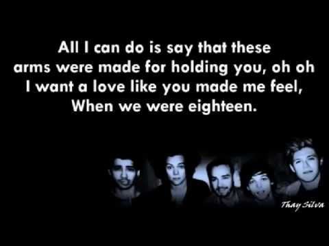 One Direction-18 (Lyrics+Pictures)