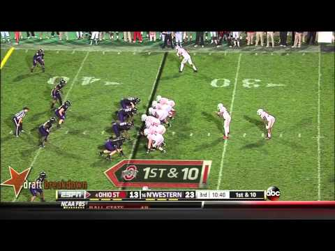 Tyler Scott Northwestern vs Ohio St. 2013 video.