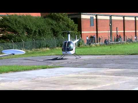 Bird is turned into meat by a helicopter rotor.