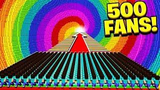 Video 500 FANS vs WORLD'S BIGGEST RAINBOW DROPPER! MP3, 3GP, MP4, WEBM, AVI, FLV September 2018
