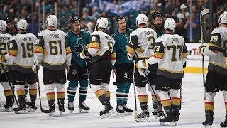 Sharks and Golden Knights exchange handshakes after insane Game 7 by NHL