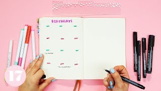 Video One Minute Bullet Journal Layouts | Plan With Me MP3, 3GP, MP4, WEBM, AVI, FLV Juli 2018