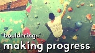 Bouldering v5/v7: Making progress on some problems by  rockentry