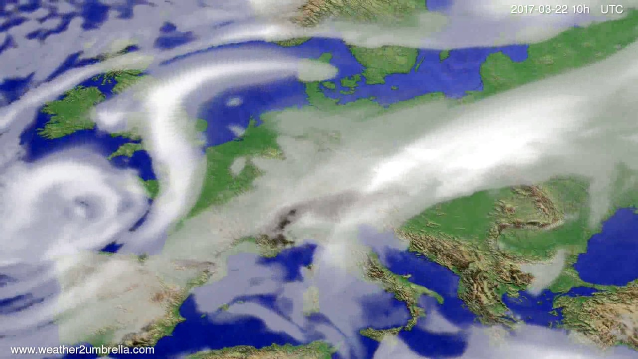 Cloud forecast Europe 2017-03-20