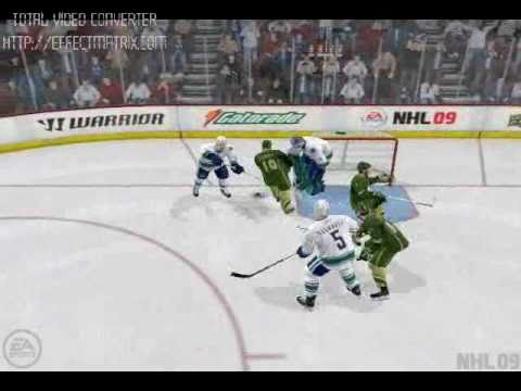NHL 09 Glitch Goal - Bloopers - Funny