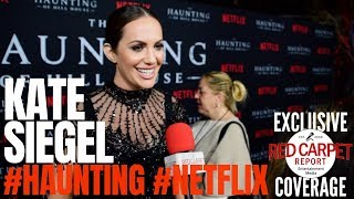 Kate Siegel interviewed at #Netflix's The #Haunting of Hill House S1 Premiere Event