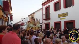 Procesión de Ntra. Sra. de la Estrella Coronada. Patrona y Alcaldesa Perpetua de la localidad de Chucena. (Huelva). 15/08/2017.