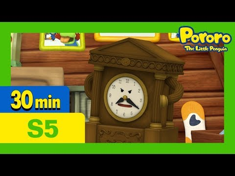 Pororo English Episodes l A Day With Wall Clock l S5 EP22 l Learn Good Habits for Kids