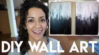 I took old canvas that I've had and made trash to treasure. I have a super easy, black and white, minimalist inspired, abstract wall art in my master bedroom now.  And I couldn't be happier.Davee K: http://bit.ly/2tN7k9cDavee K's video: https://youtu.be/l7oscVrNdy0Davee is a sweet girl with a great channel.  Show her some love - you'll be happy you did.Here's a playlist of DIY Collabs I hosted for 1 week straight (Should I do that again?): http://bit.ly/2tv904LHere are my previous DIY's: http://bit.ly/2tWrIFg------------------------------------------------------------------------------------------------✔ Ibotta app: $10 added to your refund account when you redeem your first rebate: https://ibotta.com/r/xgflatl✔ Vitacost link for $10 off your first purchase: https://goo.gl/2GfwBA✔ ThredUp link for $10 off your first purchase (online thrifting): http://www.thredup.com/r/QZNX3V✔ EBATES: Get $10 added to your quarterly rebate check upon your first purchase using this link: https://www.ebates.com/r/PKEELE17?eeid=28187 ------------------------------------------------------------------------------------------------ABOUT ME:I'm a stay at home mom to two girls ages 3 and 1. I like to laugh, read, keep a clutter free home and live on a budget.Subscribe: http://bit.ly/1bFm5hHInstagram: https://instagram.com/patriciakeeleThis video is not sponsored.