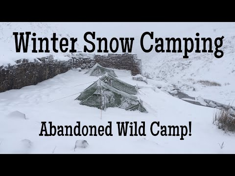 Winter Snow Camping - Abandoned Wild Camp