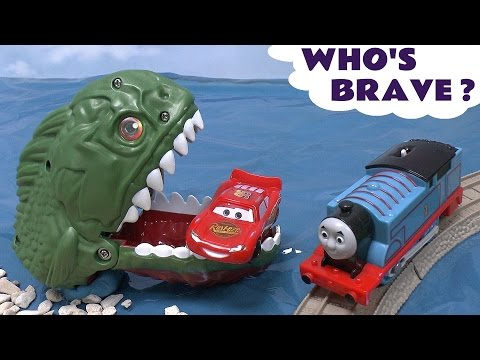 thomas - Hot wheels Piranha Attack and Dragon Destroyer, Thomas and Friends Troublesome Traps and Spooky Eggs. It all sounds a little bit dangerous so who is brave en...