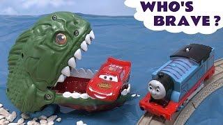 Piranha Cars Hot Wheels Thomas The Train Play Doh Surprise Eggs Halloween Spooky Playdough Dragon