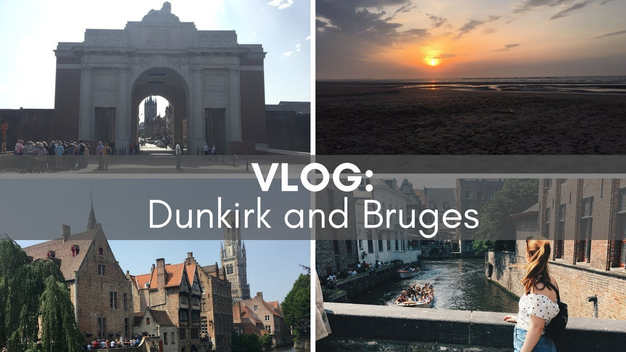 TRAVEL VLOG: Dunkirk & Bruges with Adam! | Simply Redhead