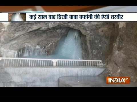 20 feet high Shivling are in full swing at Amarnath cave this year