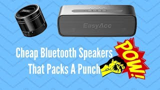 Cheap Bluetooth Speakers That Packs A PunchLooking for some cheap budget wireless Bluetooth speakers that sound great? well, I got the speakers that are great value for money and sound great with good loudness and bass.EasyAcc Mini Portable Bluetooth 4.0 Speaker with Mic, 3.5mm Aux, FM Function, Micro SD Card Slot- Titanium Black15% discount code(Valid until July 30): ESPEAKERUKhttp://amzn.to/2tIS5NxUShttp://amzn.to/2tNihoPEasyAcc SoundX Bluetooth Speaker with 10W (Dual 5W) Total Acoustic Drivers with 20-Hour Playtime, Includes Microphone, 3.5mm Auxiliary Port, Micro SD Card Slot, BlackUKhttp://amzn.to/2vd79kCUSNo LinkSong: Elektronomia - Sky High [NCS Release]Music provided by NoCopyrightSounds.Video Link: https://youtu.be/TW9d8vYrVFQDownload Link: https://NCS.lnk.to/SkyHigh