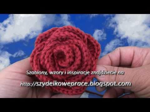 Video kurs szydełkowania część.5 Róża, How to crochet rose