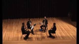 15-11-2008 Concierto en el Auditorio Municipal de Sumacarcer. El Quartet de llevant interpretando la aragonese de la ópera...