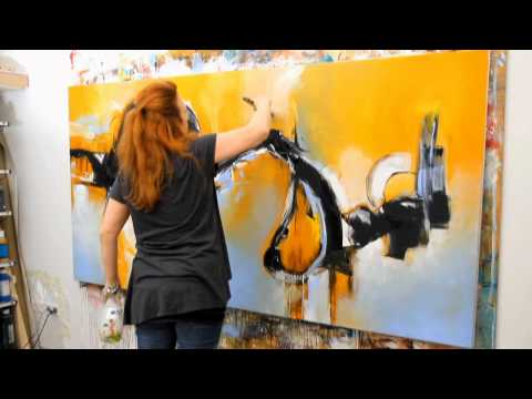 How to Paint Large Abstract Art Paintings