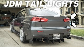 Widebody Evo X gets TAIL LIGHTS FROM JAPAN! by Evan Shanks