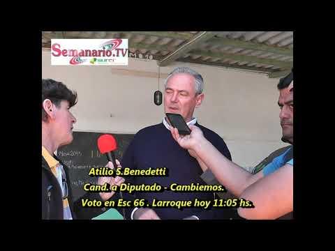 Cambiemos Benedetti voto en su ciudad a las 11:05.