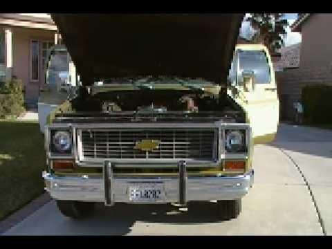 1973 Chevy Pickup Truck. (Big Block,Camper Special) (видео)