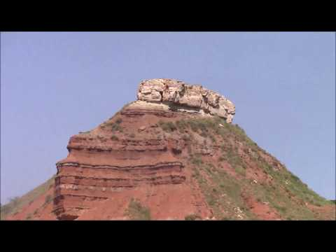 Glass/Gloss Mountans, Major County, Oklahoma- (видео)