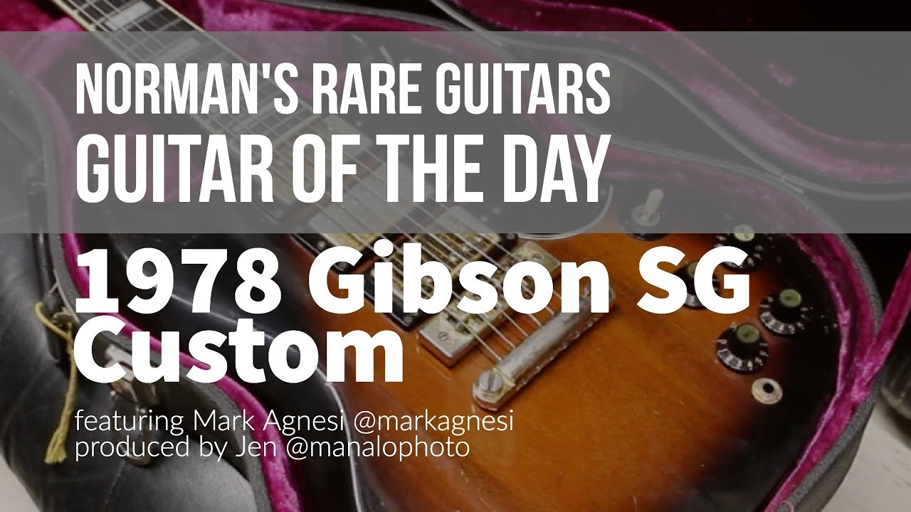Norman's Rare Guitars – Guitar of the Day: 1978 Gibson SG Custom