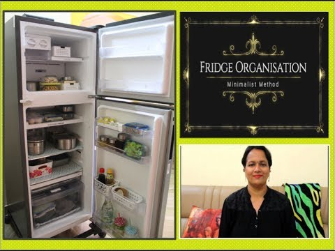 Top Five Tips To Have A Clutter Free Fridge | Minimalist Fridge Organisation